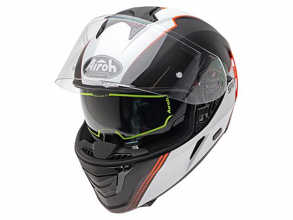 Helmet - Airoh Spark Flow, black / white / orange