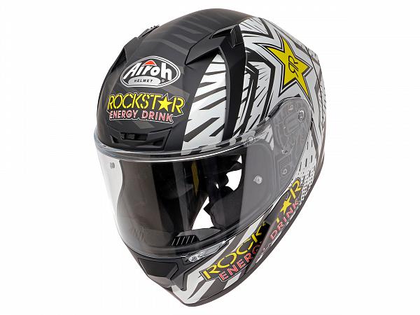 Helmet - Airoh Valor Rockstar, food white / food black / food yellow