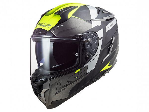 Helmet - LS2 FF327 Challenger Allert, titanium / fluo yellow