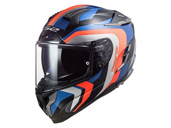 Helmet - LS2 FF327 Challenger Galactic, blue / fluo orange
