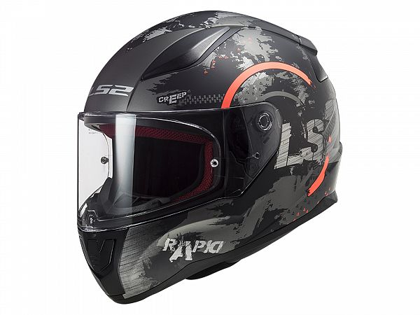 Helmet - LS2 FF353 Rapid Circle Titan, black / gray / orange