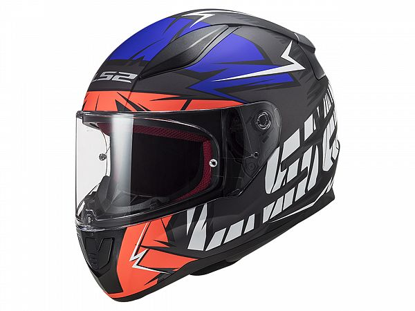 Helmet - LS2 FF353 Rapid Cromo, matte black / orange / blue