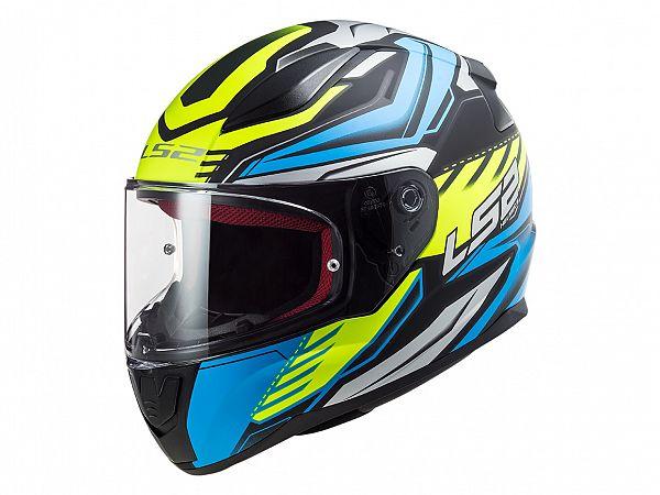 Helmet - LS2 FF353 Rapid Gale, food blue / fluo yellow, 3x-large