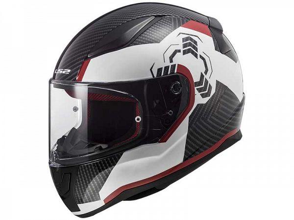 Helmet - LS2 FF353 Rapid Ghost, white / black