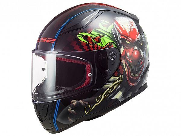 Helmet - LS2 FF353 Rapid Happy Dreams, black / red, x-small