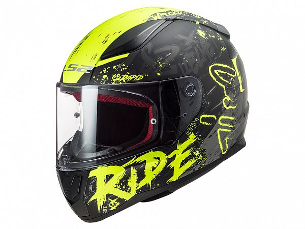 Helmet - LS2 FF353 Rapid Naughty, matte black / fluo yellow