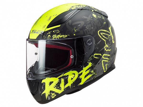 Helmet - LS2 FF353 Rapid Naughty, matte black / fluo yellow