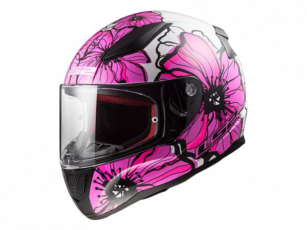 Helmet - LS2 FF353 Rapid Poppies, purple / white
