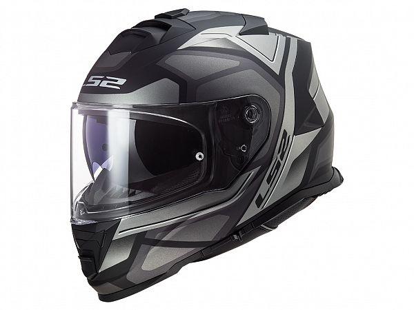 Helmet - LS2 FF800 Storm Faster, matte black / gray