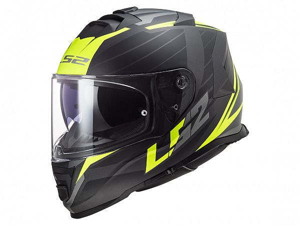 Helmet - LS2 FF800 Storm Nerve, matte black / fluo yellow incl. optional visor