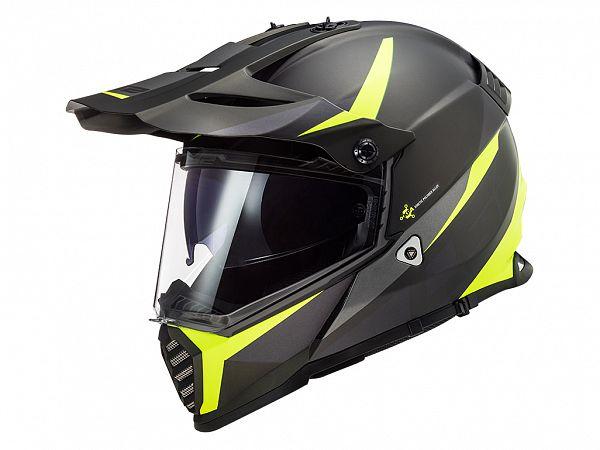 Helmet - LS2 MX436 Pioneer Evo Router, matt black / fluo yellow