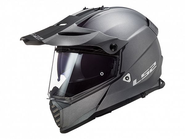 Helmet - LS2 MX436 Pioneer Evo Solid, matt titanium
