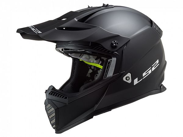 Helmet - LS2 MX437 Fast Evo Solid, matte black