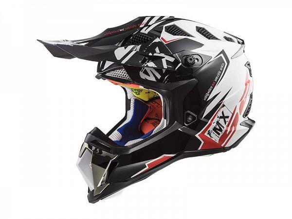 Helmet - LS2 MX470 Subverter Emperor, white / red / black