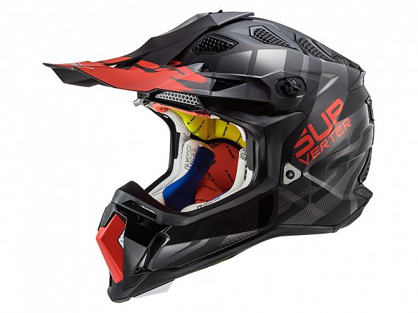 Helmet - LS2 MX470 Subverter Troop, black / red