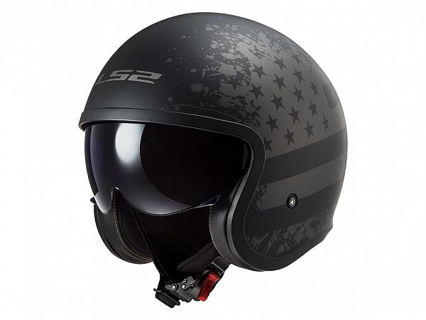 Helmet - LS2 OF599 Spitfire Black Flag, matte black / gray, small