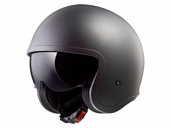 Helmet - LS2 OF599 Spitfire Single Mono, matt titanium