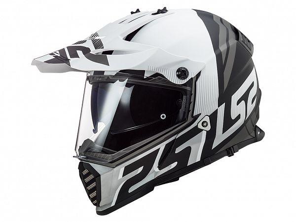 Hjälm - LS2 MX436 Pioneer Evo Evolve, vit / svart, medium