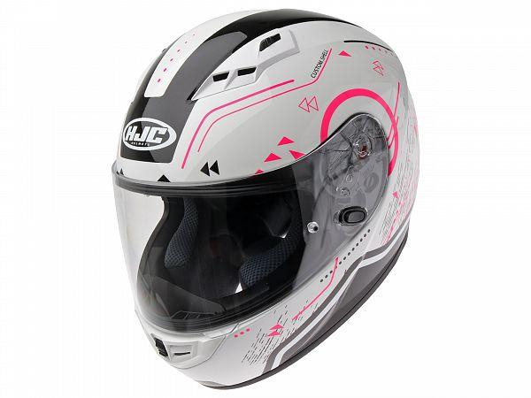 Hjelm - HJC CS15 Safa, hvid/pink