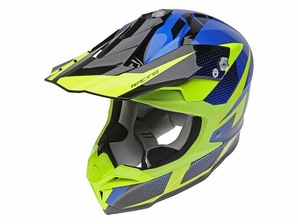Hjelm - HJC i50 Argos, blå/fluo gul