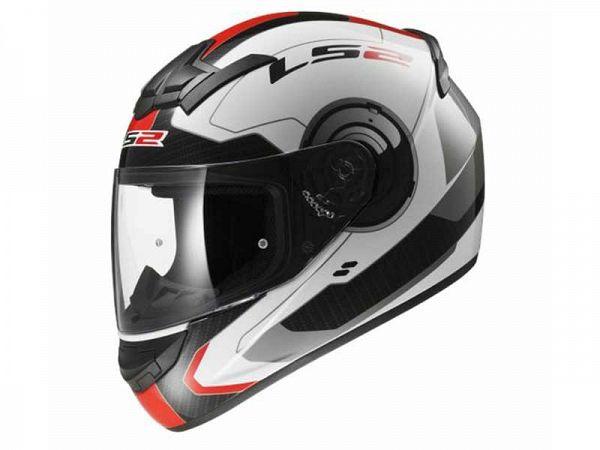 Hjelm - LS2 FF352 Rookie Atmos, hvid/rød/sort