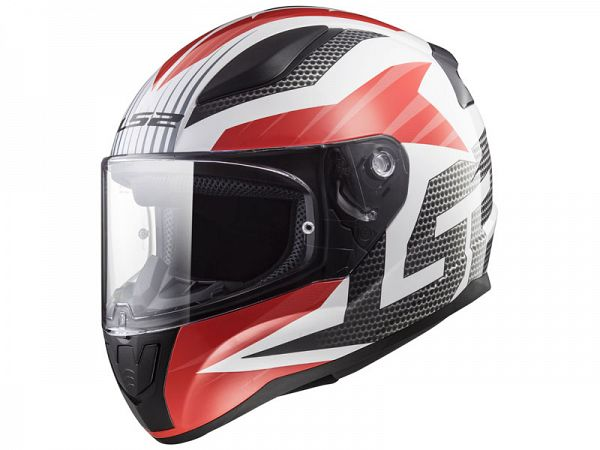 Hjelm - LS2 FF353 Rapid Grid, hvid/rød
