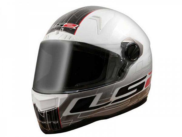 Hjelm - LS2 FF385 CR1 Racing, hvid/sort