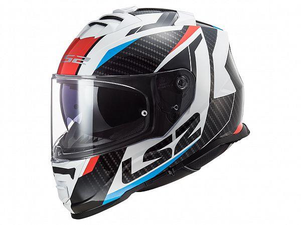 Hjelm - LS2 FF800 Storm Racer, titanium/rød/blå