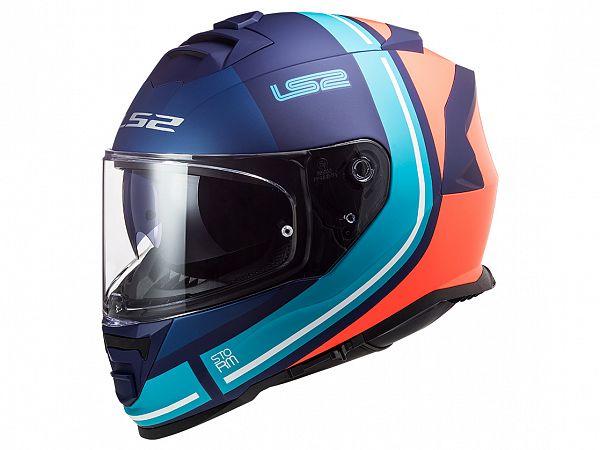 Hjelm - LS2 FF800 Storm Slant, mat blå/lilla/orange