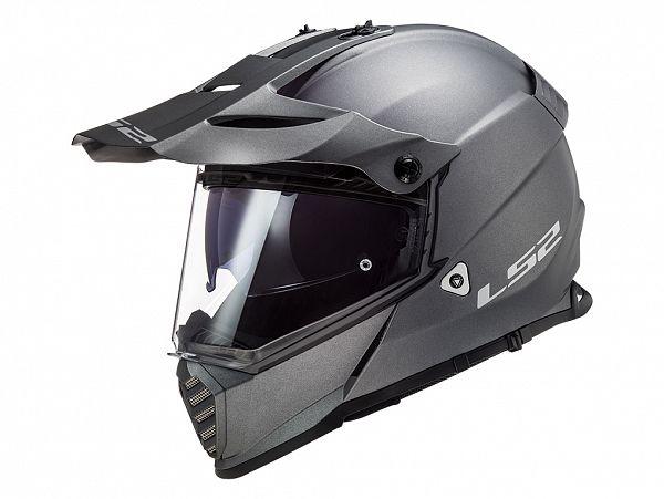 Hjelm - LS2 MX436 Pioneer Evo Solid, mat titanium