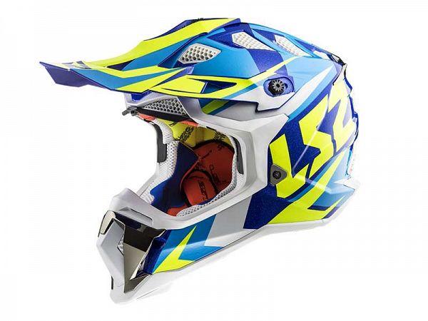 Hjelm - LS2 MX470 Subverter, blå/gul/hvid