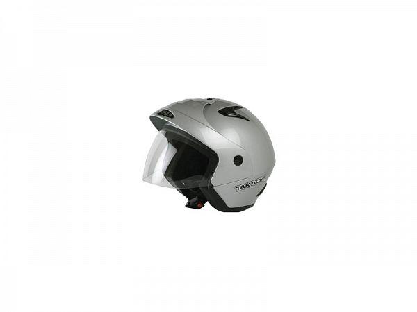 Hjelm - Takachi TK10 med visir, sølv