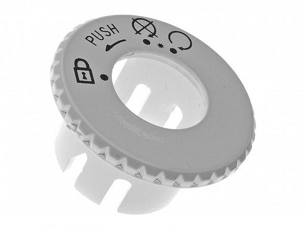Ignition lock cover - white