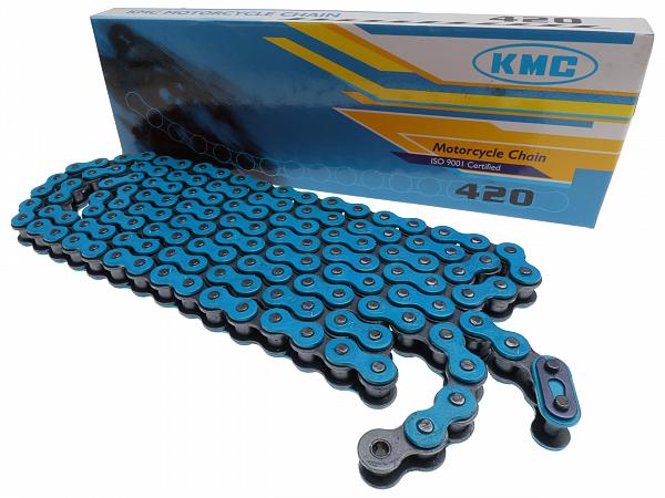 Kæde - KMC Reinforced 420, 136L - blå