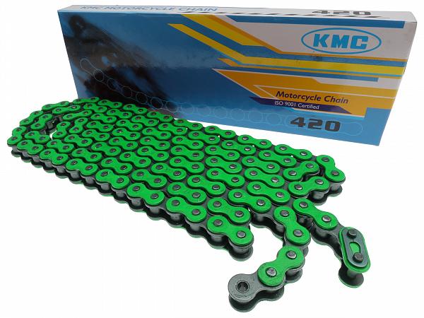 Kæde - KMC Reinforced 420, 136L - grøn