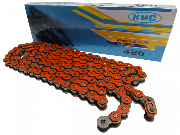 Kæde - KMC Reinforced 420, 136L - orange