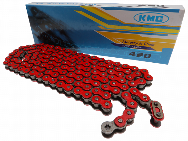 Kæde - KMC Reinforced 420, 136L - rød