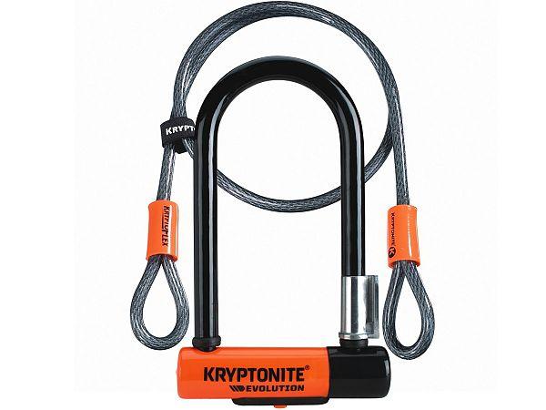 Kryptonite Evolution Mini 7 Bøjlelås m. Wire