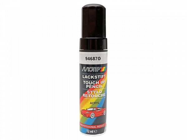 Lacquer pencil - MoTip Pro touch up lacquer pencil with brush, food charcoal gray - 12ml