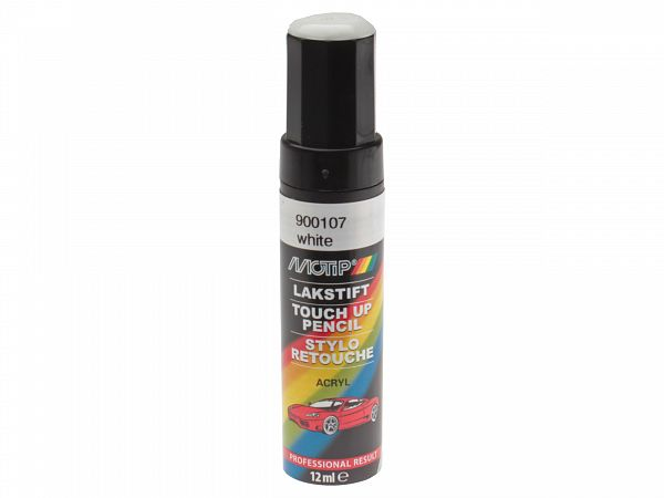 Lakstift - Motip Pro touch up lakstift med pensel, hvid - 12ml
