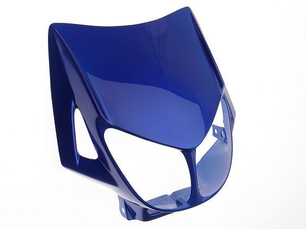 Lygteskjold - metalblå