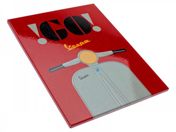 "Magnet - Vespa ""Go"" red"