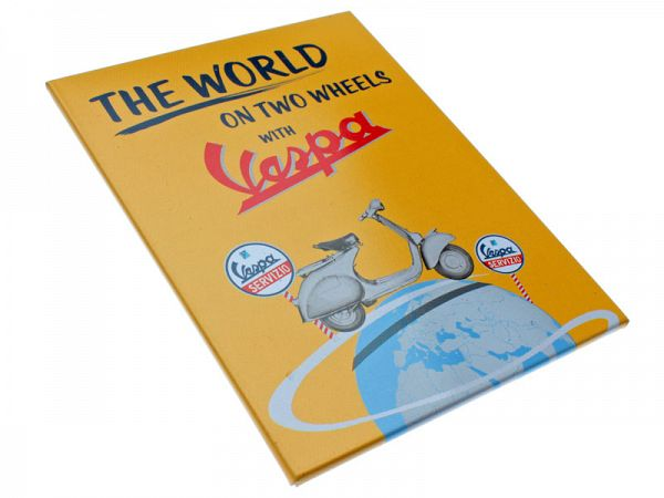 "Magnet - Vespa ""The world on two wheels"""