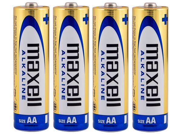 Maxell AA Batterier, 4 stk