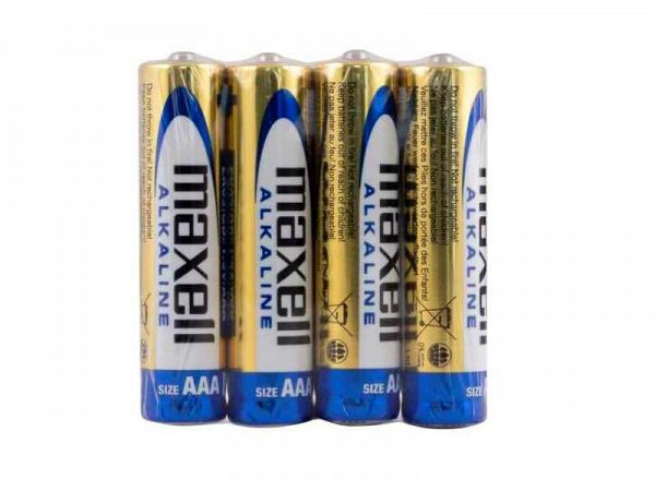 Maxell AAA Batteries, 4 pcs