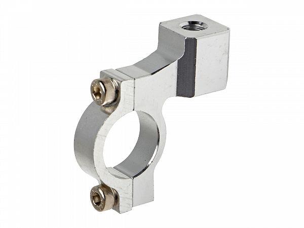 Mirror holder for handlebars - universal - silver