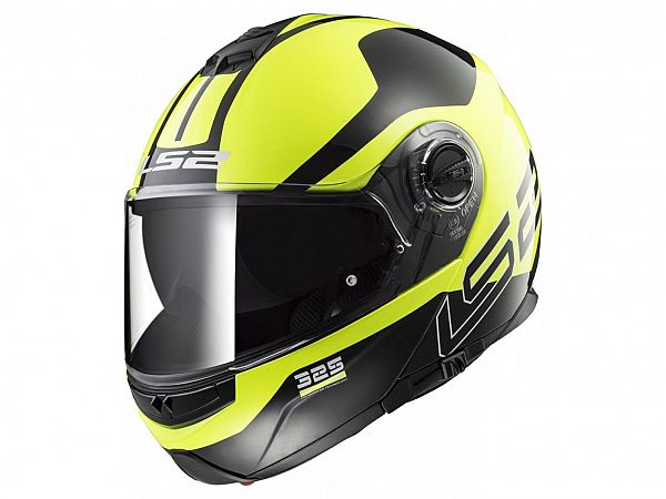 Mopedhjälm - LS2 FF325 Strobe Zone HI Vis gul / svart