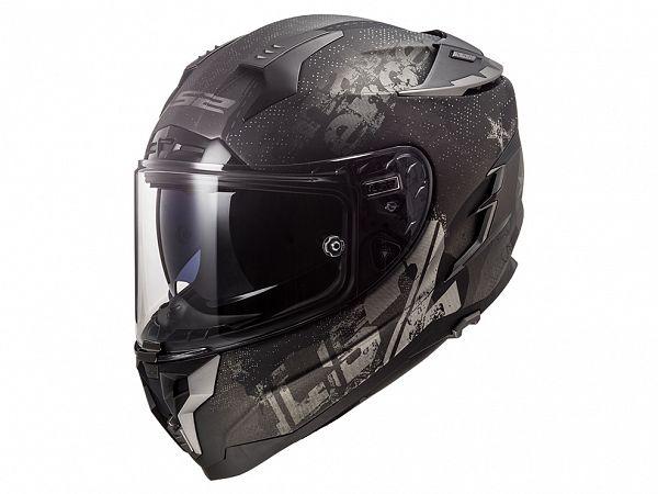 Mopedhjälm - LS2 FF327 Challenger Flex, matt svart / grå