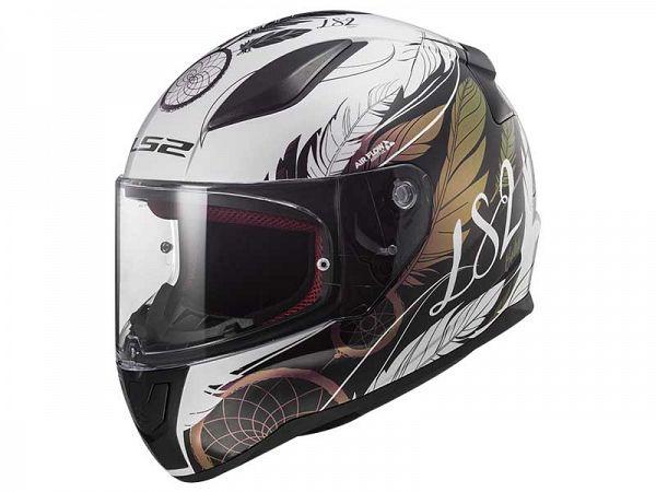 Mopedhjälm - LS2 FF353 Rapid Boho, vit / svart / rosa