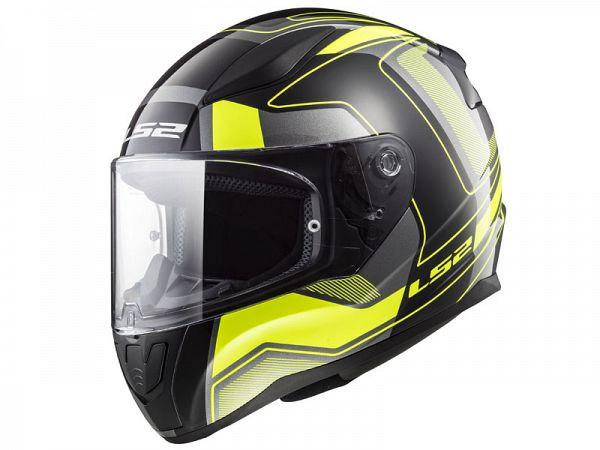 Mopedhjälm - LS2 FF353 Rapid Carrera, hi-vis / matt sort